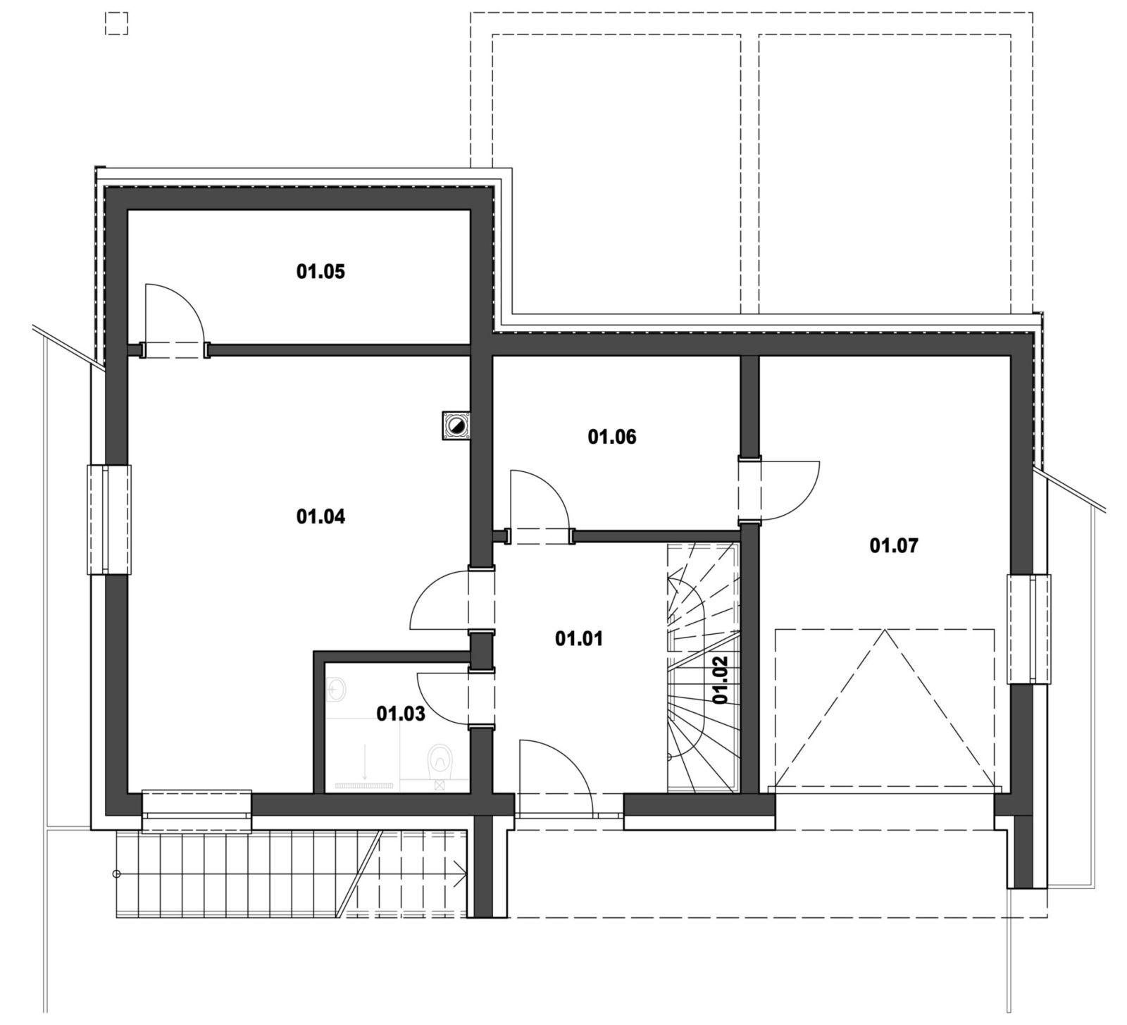 Rodinný dom 4 podzené podlažie pôdorys
