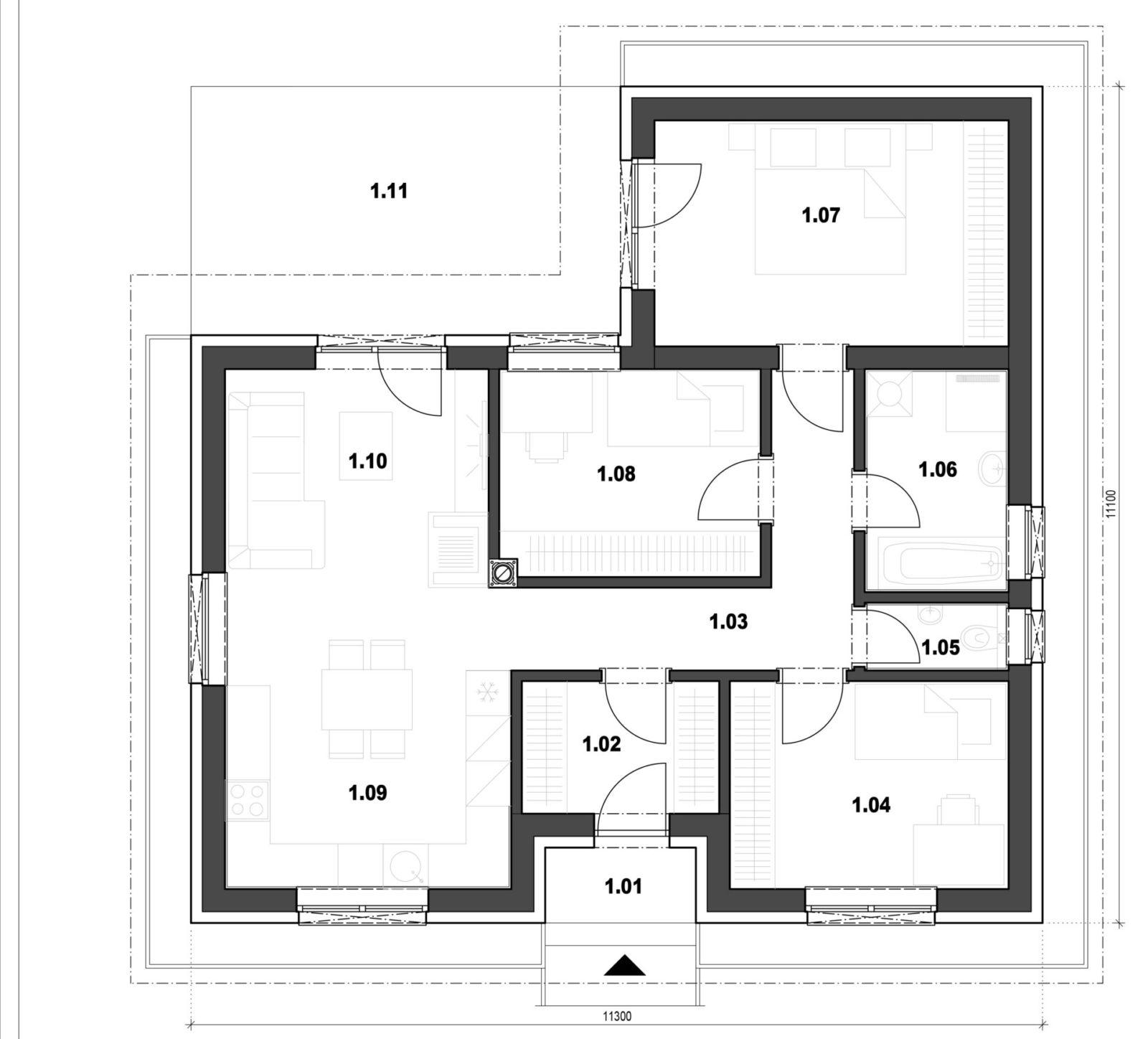 Rodinný dom 3 pôdorys