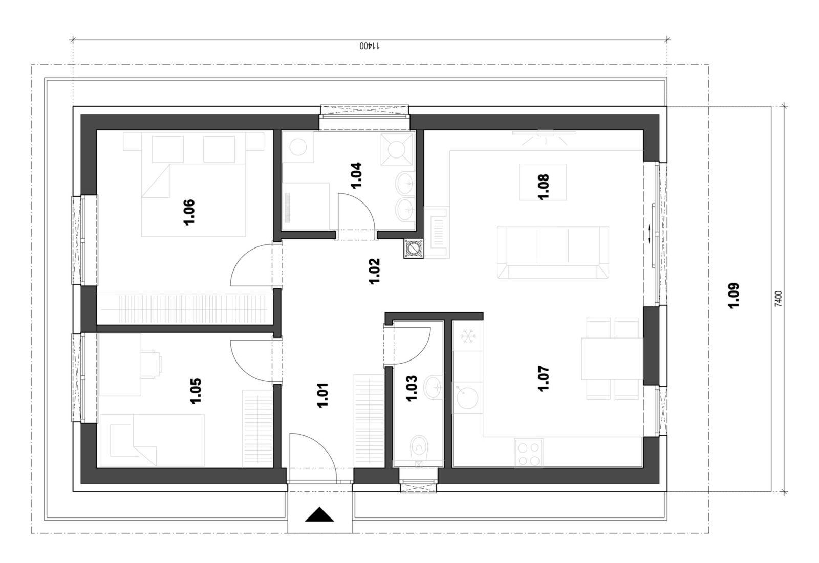 Rodinný dom 9 pôdorys